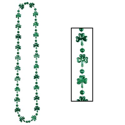 Shamrock Beads (Pack of 12) shamrock, three leaf clover, clover, st patricks day, st pattys day, green, celtic, irish, beads,