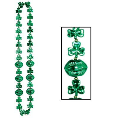 Shamrock Beads w/Kiss Me Lips (Pack of 12) .