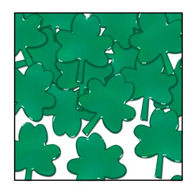 Fanci-Fetti Shamrocks (Pack of 12) shamrock, 3 leaf clover, clover, green, fanci-fetti, confetti, st patricks day, st pattys day, celtic