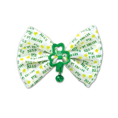 Kiss Me Im Irish Bow Tie (Pack of 12) Kiss Me Im Irish Bow Tie, party favor, st. patricks day, kiss me, im irish, wholesale, inexpensive, bulk