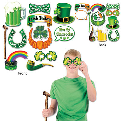 St Patricks Day Photo Fun Signs (Pack of 144) St. Pats Decor, St. Pats photo accessories, Bulk Party Favors, Cheap Party Decorations
