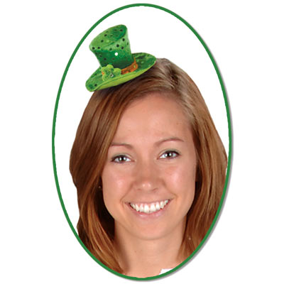 Leprechaun Hat Hair Clip (Pack of 12) Leprechaun Hat Hair Clip, party favor, st. patricks day, leprechaun, wholesale, inexpensive, bulk
