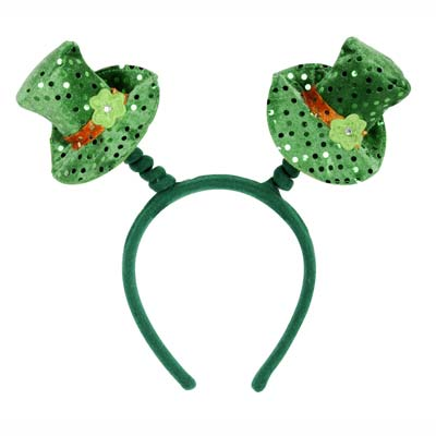 Leprechaun Hat Boppers (Pack of 12) Leprechaun Hat Boppers, boppers, leprechaun, hat, party favor, st. patricks day, wholesale, inexpensive, bulk