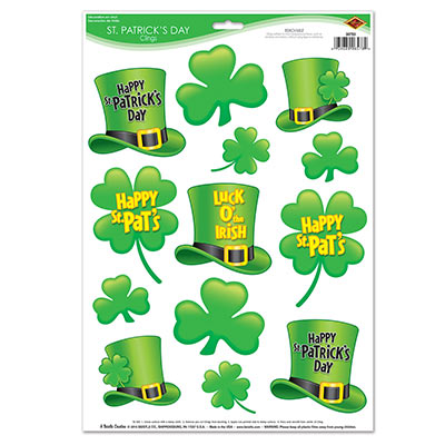 St Patricks Day Clings Decorations