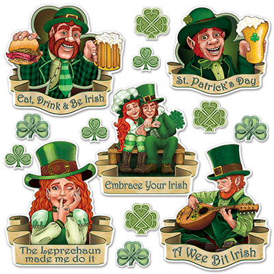 St Patricks Day Cutouts Decorations