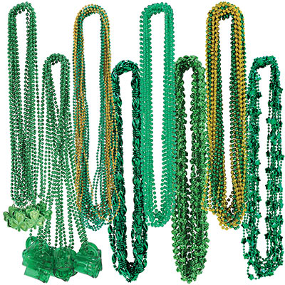 St Patricks Bead Assortment (Pack of 100) St Patricks Bead Assortment, beads, assortment, shamrock, st. patricks day, wholesale, inexpensive, bulk