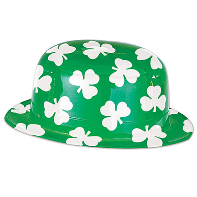 Plastic Shamrock Derby (Pack of 25) St. Pats Party Hat, Cheap St. Patricks Day Party Hats, Wholesale Party Supplies, Factory Direct St. Patricks Day Party Favors