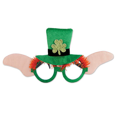 Leprechaun Glasses (Pack of 12) Leprechaun Glasses, party favor, st. patricks day, wholesale, inexpensive, wearable, bulk