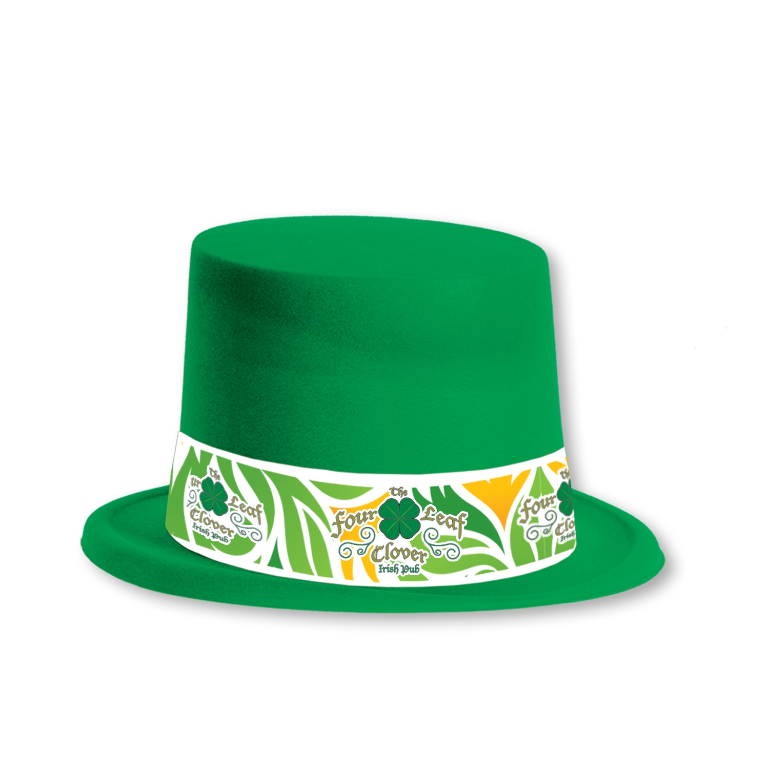 Custom Velour Toppers with Imprinted Band Custom Velour Toppers with Imprinted Band, custom, velour, toppers, party favor, st. patricks day, wholesale, inexpensive, bulk