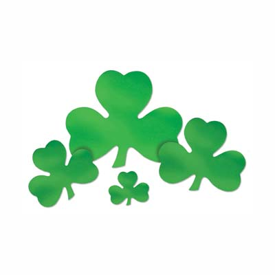 "12"" Foil Shamrock Cutout (Pack of 24) ."