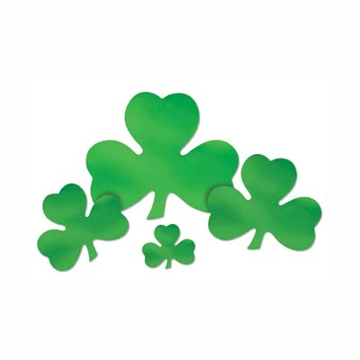 "5"" Foil Shamrock Cutout (Pack of 72) ."