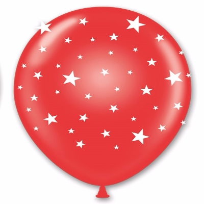"11"" Red Balloons with White Stars (Pack of 50) 11 Balloons, Bulk Balloons, Red Balloons, Red balloons with white stars, Patriotic, 4th of July, New Years Eve, NYE, Wholesale party supplies, Inexpensive party decorations, Party goods, Latex Balloons"