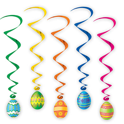 Easter Egg Whirls (Pack of 30) hanging, whirls, easter, eggs, bunny, rabit