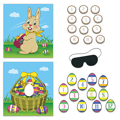 Easter Party Games (Pack of 48) Easter Party Games, Easter, game, bunny, eggs, wholesale, inexpensive, bulk, decoration