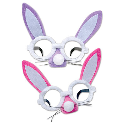 Plush Bunny Glasses (Pack of 12) .