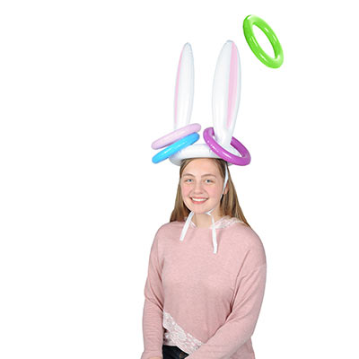 Inflatable Bunny Ears Ring Toss (Pack of 12) Bunny, easter, ears, ring toss, inflatable