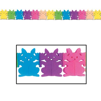 Bunny Garland (Pack of 12) tissue, pastel, bunny, garland, easter, happy easter, eggs, rabit