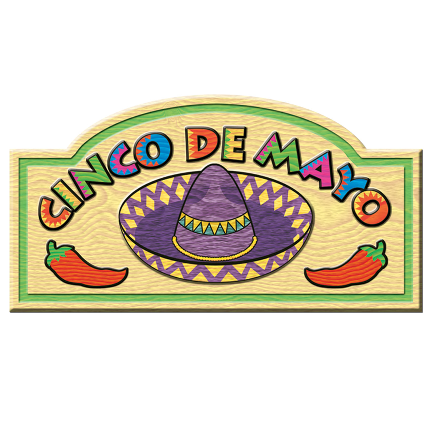 Cinco De Mayo Sign (Pack of 24) .