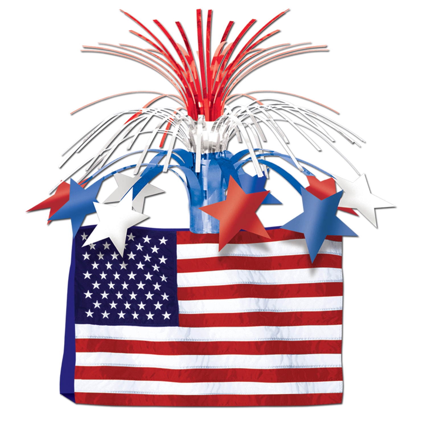 American Flag Centerpiece (Pack of 12) .