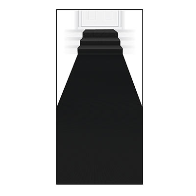 Black carpet runner decoration made of polyester material.