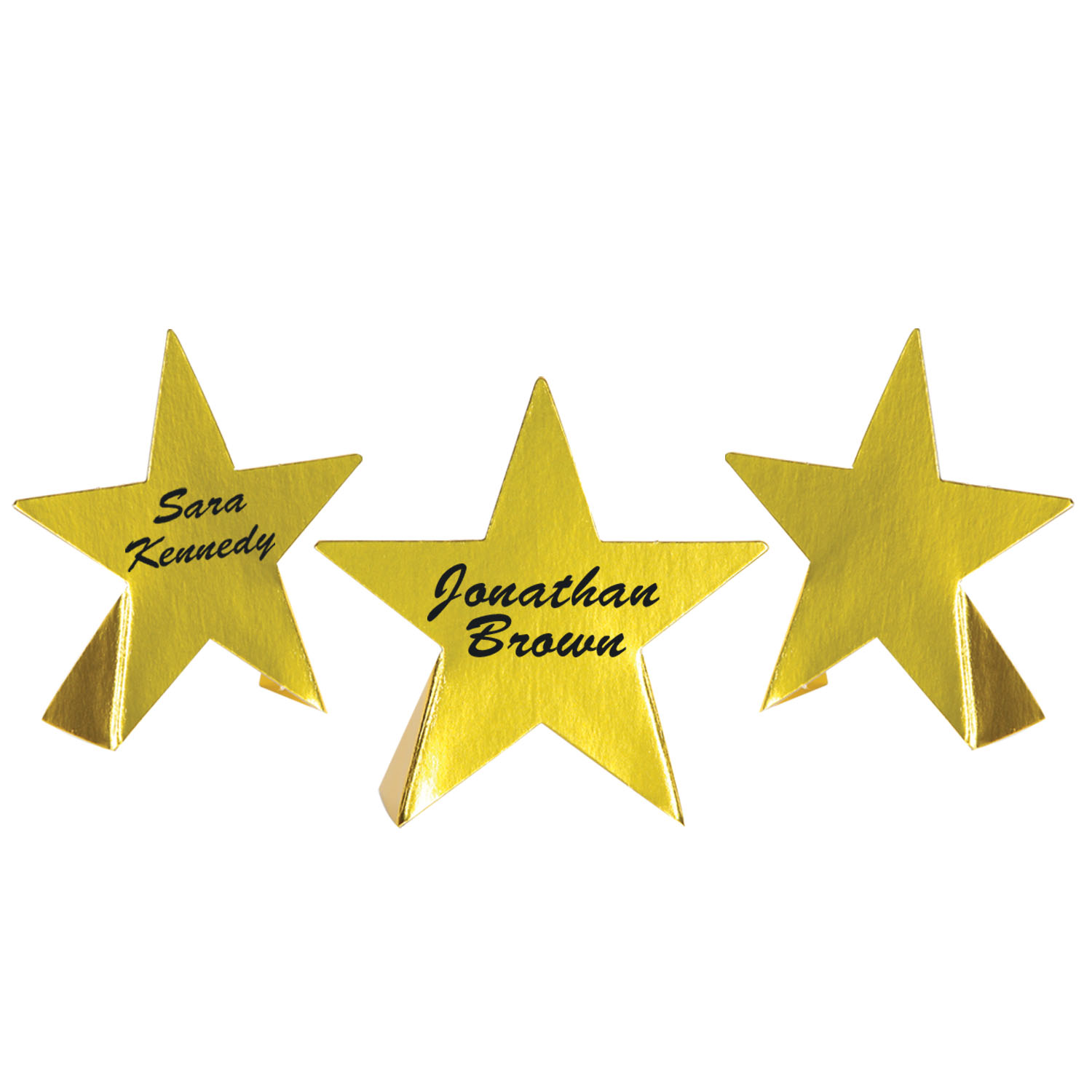 Foil Star Place Cards (Pack of 24) Foil Star Place Cards, decoration, place card, gold, new years eve, hollywood, star, wholesale, inexpensive, bulk