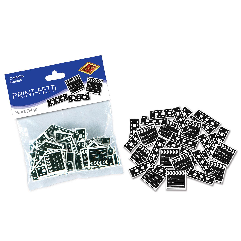 1c102aeef1df1 Clapboard   Filmstrip Print-Fetti (Pack of 12) Clapboard   Filmstrip Print-