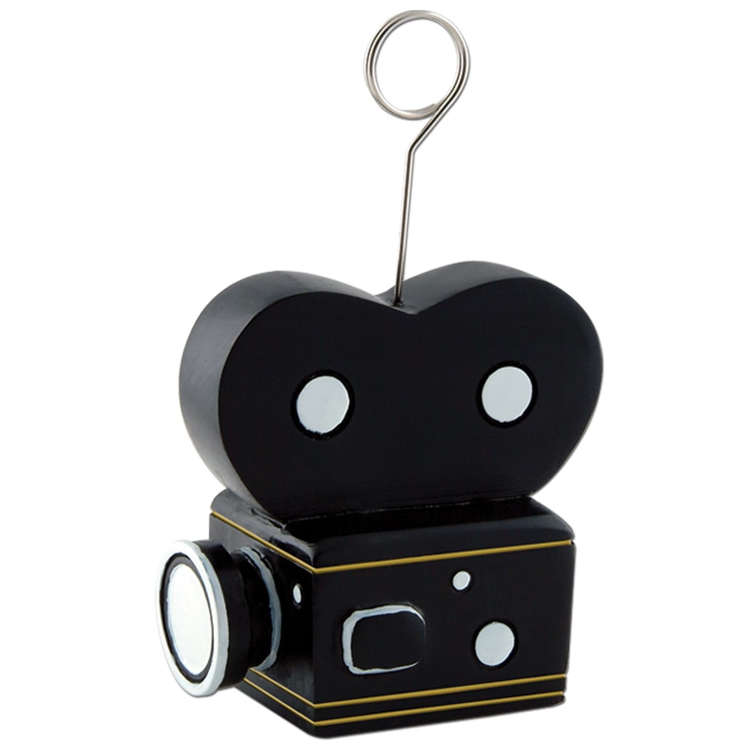 6oz Movie Camera Photo/balloon Holder (Pack of 6) Movie Camera, Photo Holder, Balloon Holder, Viewing Party, Hollywood themed event, Centerpiece, Party Favor, Balloons, Menu, Appetizer, Drink Specials, Wholesale party supplies, Inexpensive party favors, Cheap, Bulk