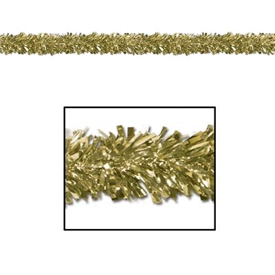 6-Ply Gold Metallic Festooning Garland (Pack of 12) garland, gold, festooning, decoration, wholesale, inexpensive, bulk, new years eve, nye, st. patricks day