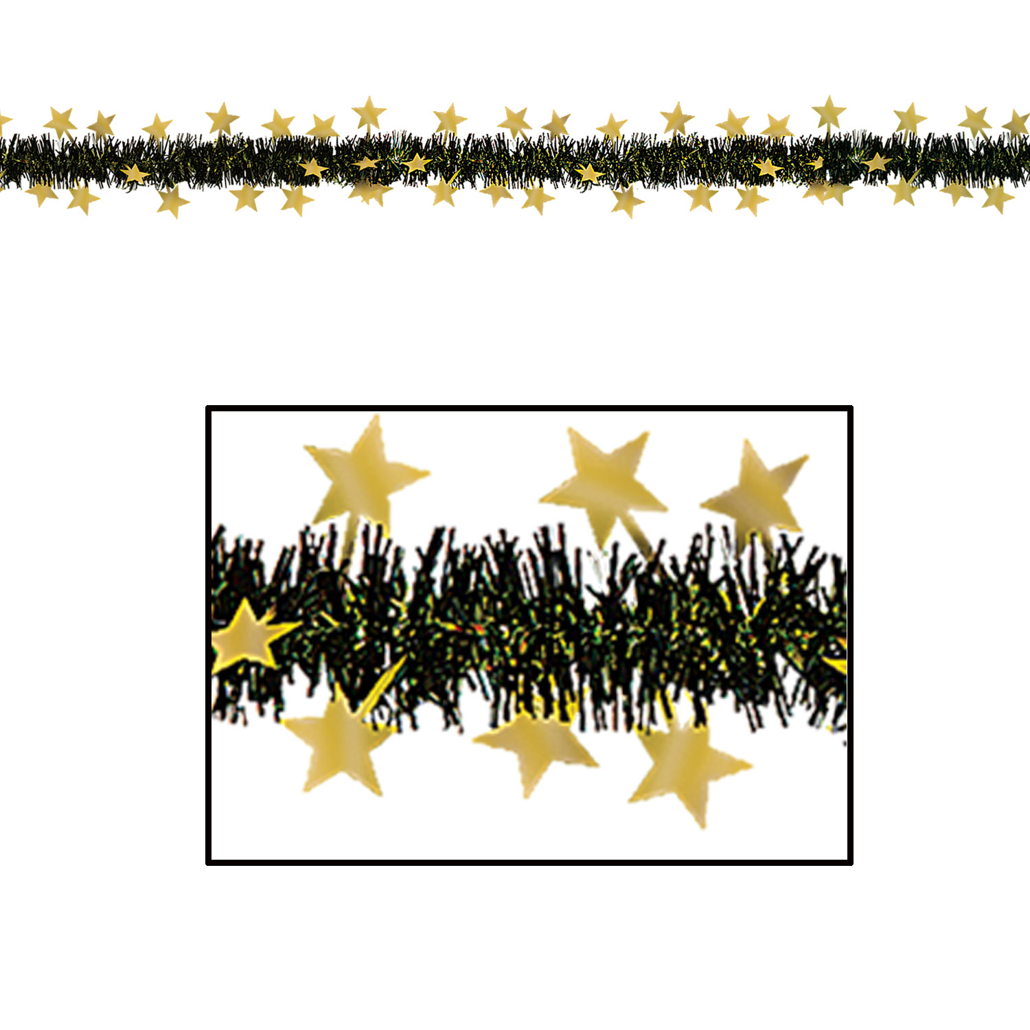 Metallic Star Garland (Pack of 12) Metallic Star Garland