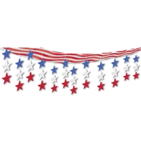 Stars & Stripes Ceiling Decor (Pack of 6) Patriotic, stars, stripes, red, white, blue, ceiling decor, 4th of july