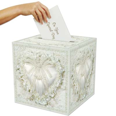 White Wedding/Anniversary Card Box