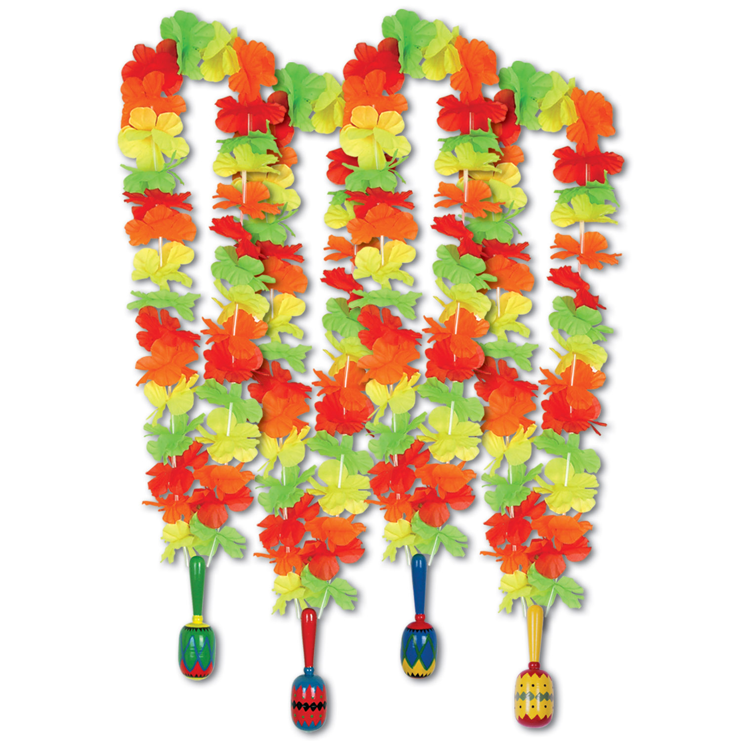 Fiesta Lei w/Maraca Medallion (Pack of 12) Fiesta Lei with Maraca Medallion, fiesta, cinco de mayo, party favor, decoration, wholesale, inexpensive, bulk
