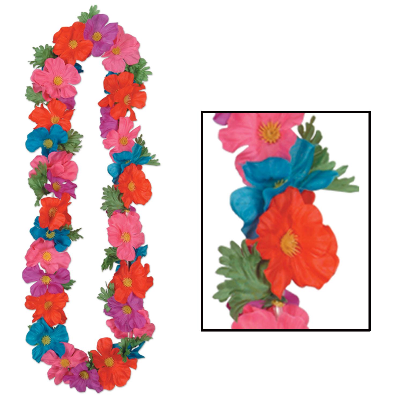 Wholesale hawaiian party leis wristbands page 3 silk n petals tropical lei pack of 12 luau lei tropical izmirmasajfo