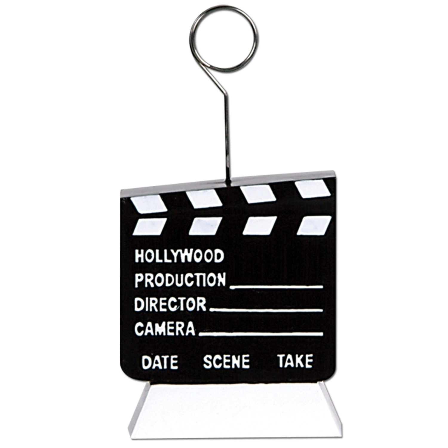 Clapboard Photo/Balloon Holder (Pack of 6) Clapboard Photo/Balloon Holder, decoration, party favor, new years eve, wholesale, inexpensive, bulk
