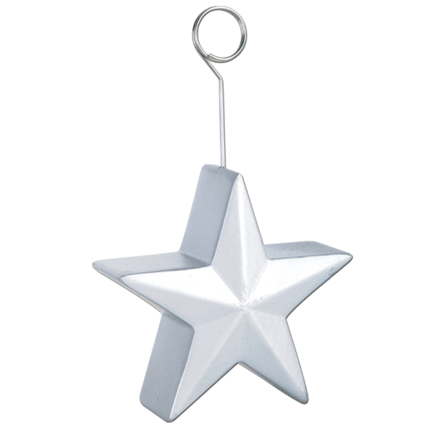 6oz Star Photo/Balloon Holders (Pack of 6) Stars, Silver, Silver Stars, New Years Eve, NYE, Fourth of July, 4th of July, Patriotic, Red, White, Blue, Decor, Wholesale party decorations, Inexpensive party supplies, Cheap, Bulk, Photo Holders, Balloon Holders, Latex Balloons, Balloons