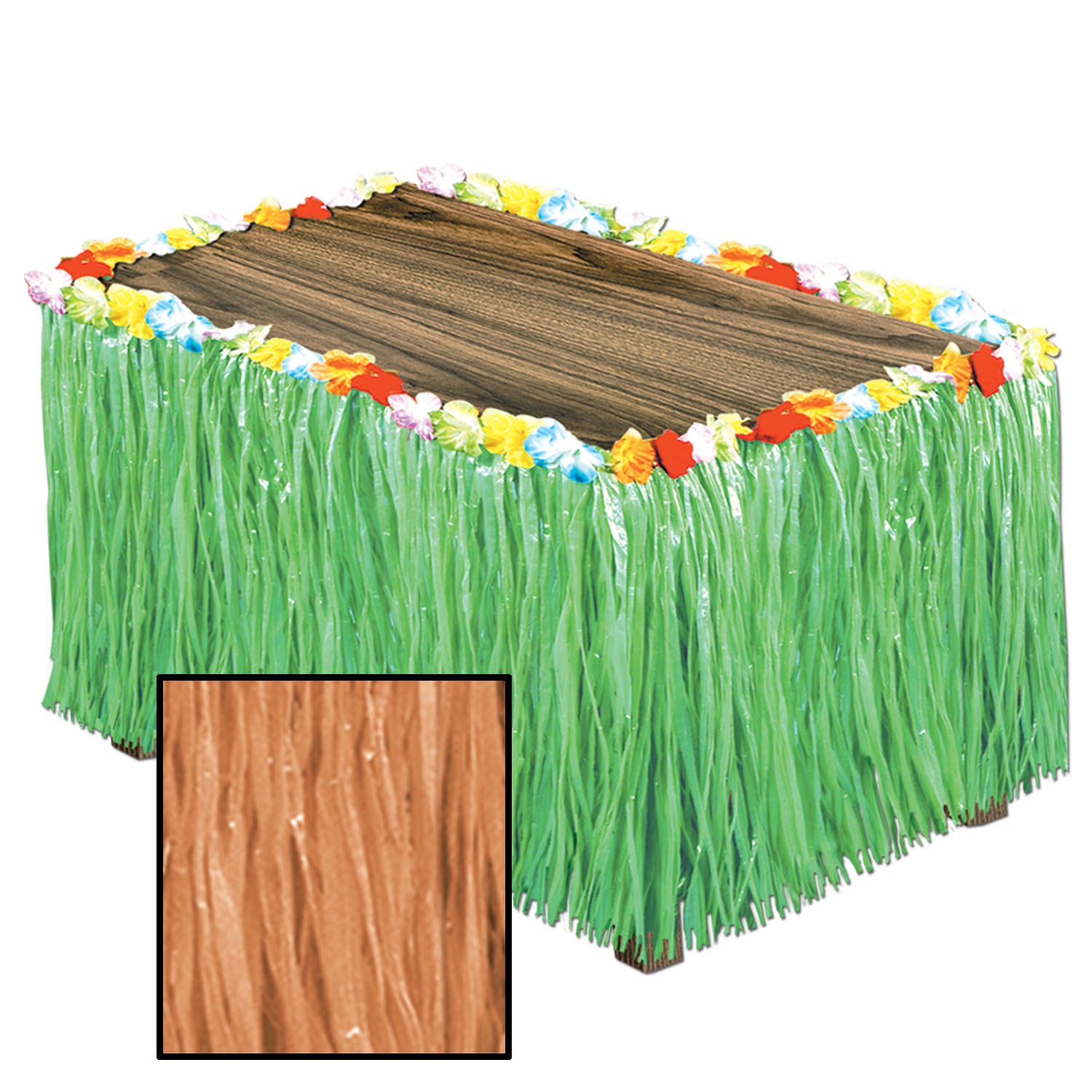 Artificial Grass Table Skirting (Pack of 6) Artificial Grass Table Skirting, decoration, luau, new years eve, wholesale, inexpensive, bulk
