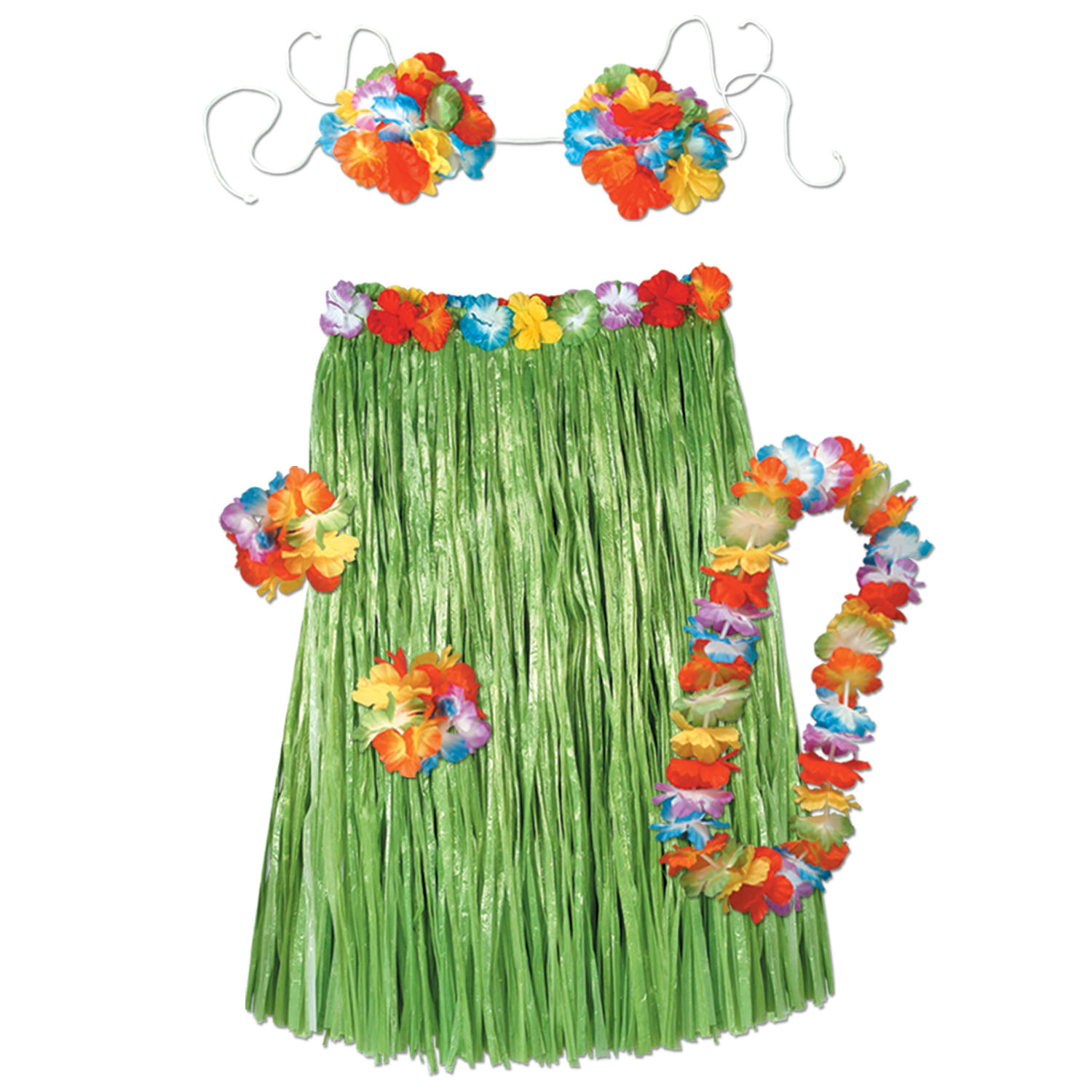 Adult Hula Set - 5 pcs (Pack of 6) Adult Hula Set, party favor, luau, new years eve, wholesale, inexpensive, bulk
