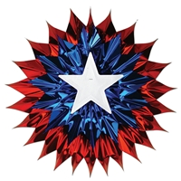 Patriotic Fan-Burst (Pack of 12) Red, white, blue, fan, burst, metallic, patriotic, july 4th, fourth of july