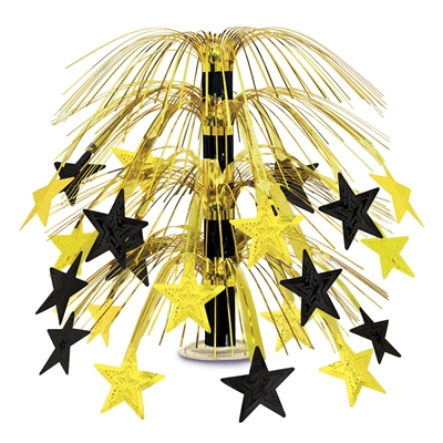 Star Cascade Centerpiece (Pack of 6) star, cascade, centerpiece, table, decoration, black, gold, party,