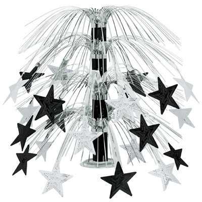 Star Cascade Centerpiece (Pack of 6) star, cascade, centerpiece, table, decoration, black, silver, party, new years eve, wholesale, inexpensive, bulk