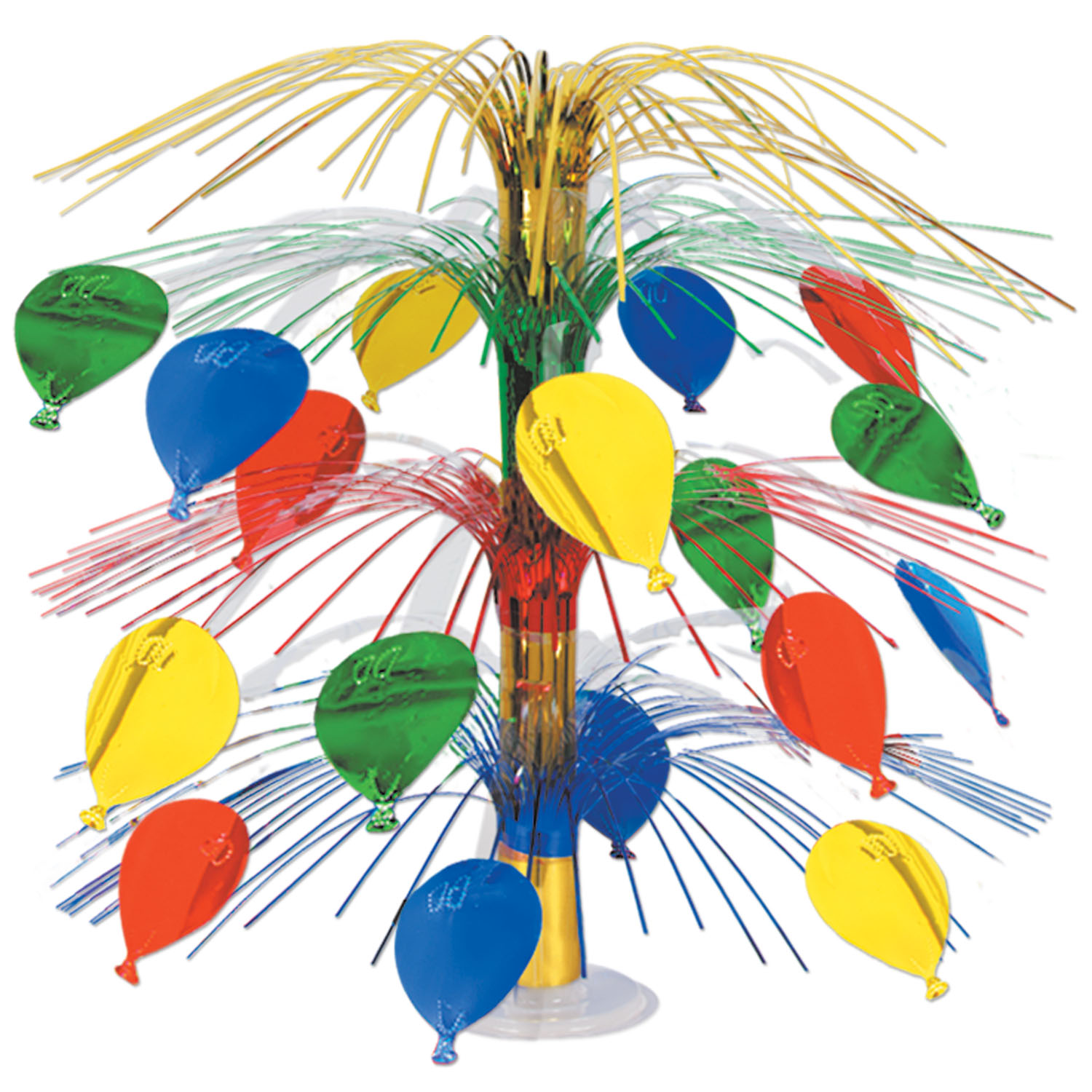Balloon Cascade Centerpiece (6 per pack) Balloon Cascade Centerpiece, multi-color, birthday, new years eve, wholesale, decoration, inexpensive, bulk