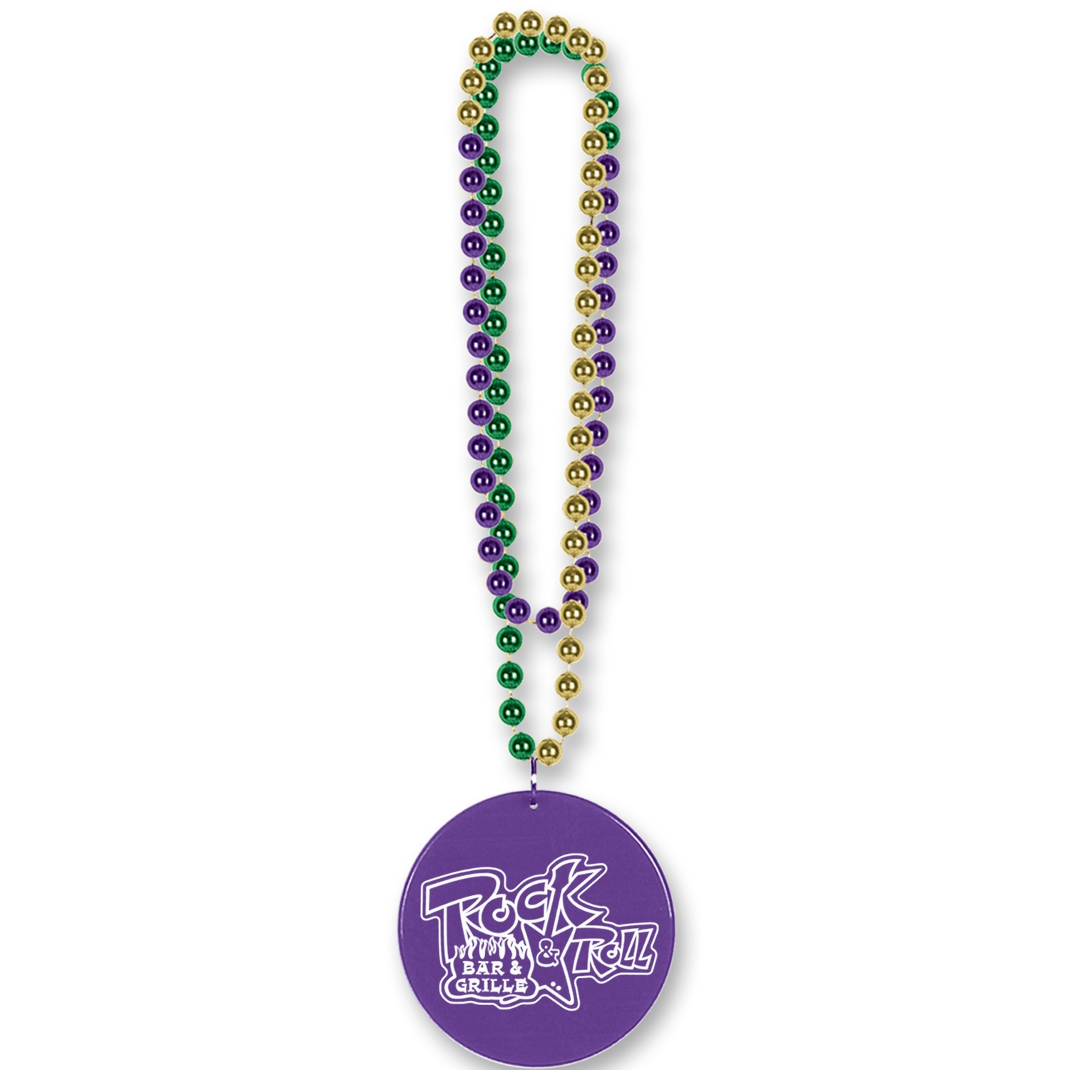 Custom Mardi Gras Medallion Beads Custom Mardi Gras Medallion Beads, custom, mardi gras, beads, gold, green, purple, wholesale, inexpensive, bulk, party favor, mardi gras