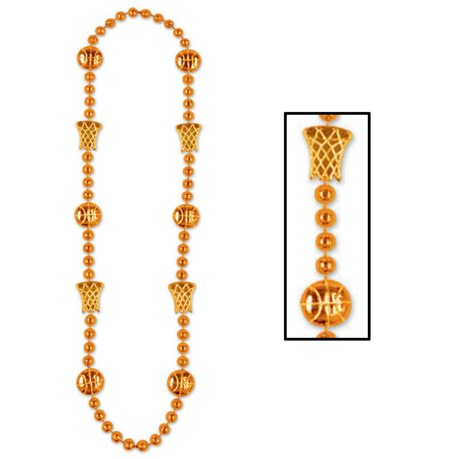 Basketball Beads (Pack of 12) .