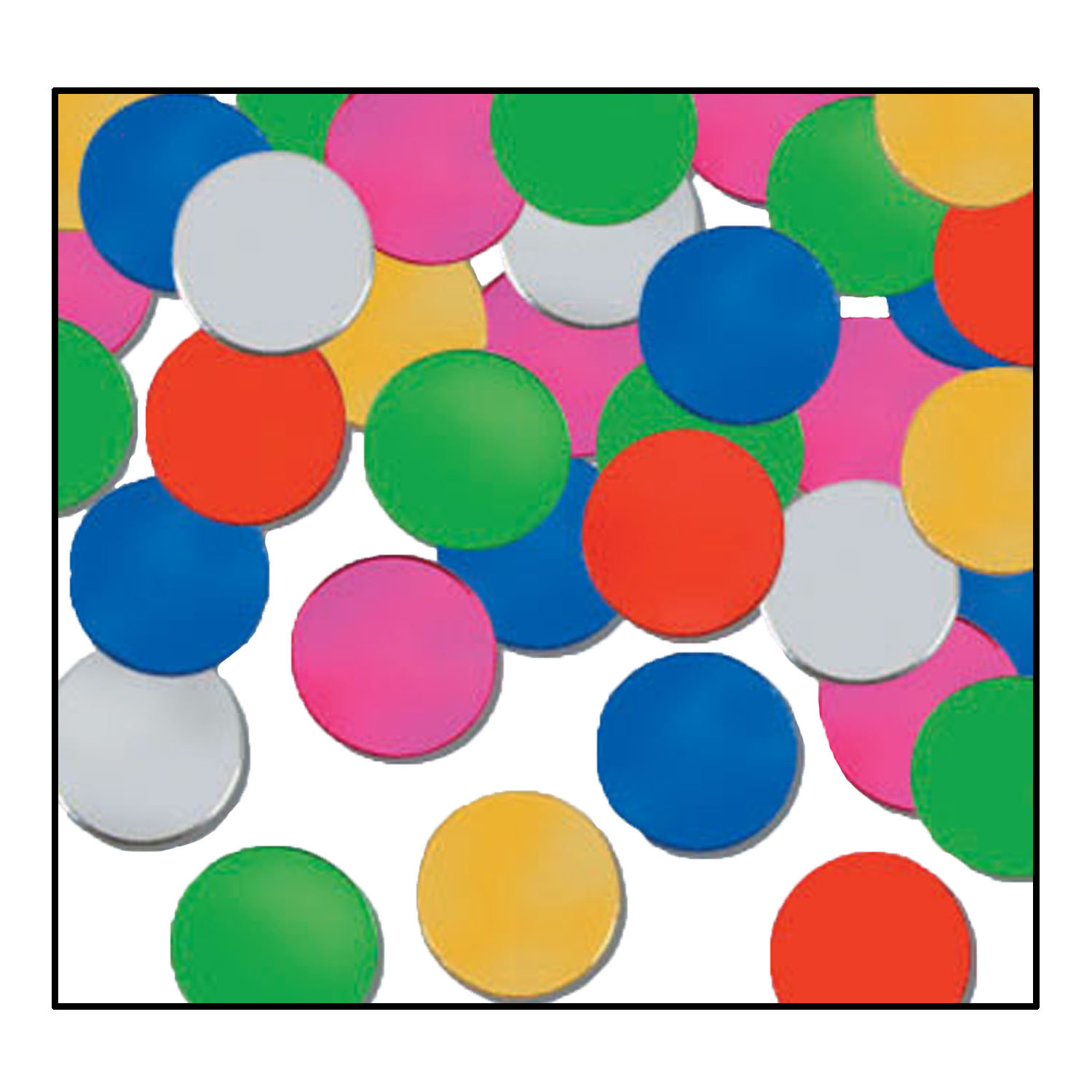 Fanci-Fetti Dots (Pack of 12) New Years Eve, multi, color, inexpensive, decoration, confetti, centerpiece, wholesale