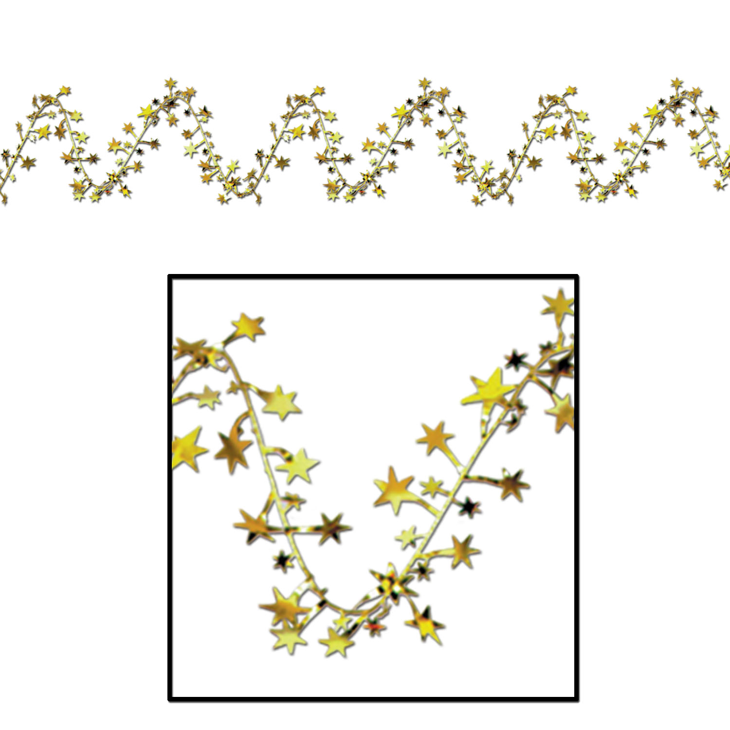 Gleam N Flex Star Garland (Pack of 12) Gleam N Flex Star Garland, Star Garland, Decorative Fringe, Decorative Garland, Fringe, Garland, Fringe Garland, New Year's Eve