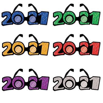 """""""2021"""" Glittered Plastic Eyeglasses"""