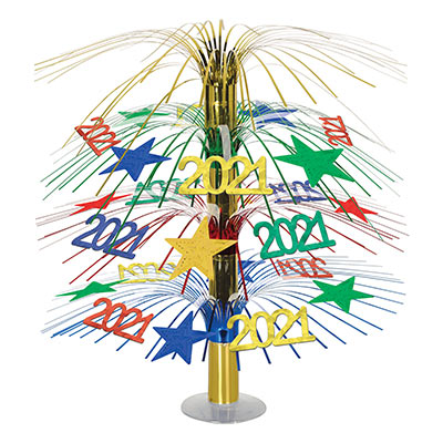 """2021"" Cascade Centerpiece (Pack of 6) ""2021"" Cascade Centerpiece, 2021, new years eve, centerpiece, wholesale, inexpensive, bulk"