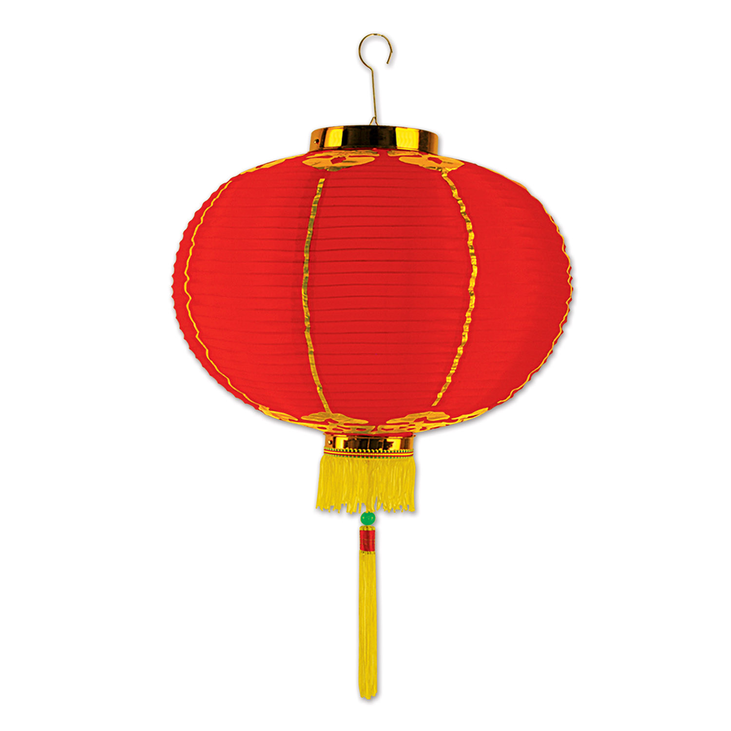"12"" Good Luck Lantern w/Tassel (Pack of 12) ."