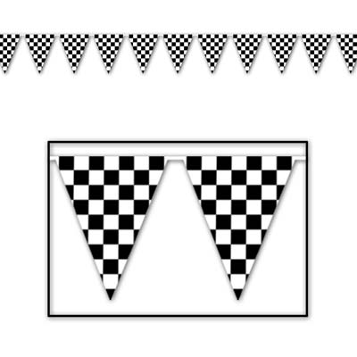 Checkered Pennant Banner for racing day