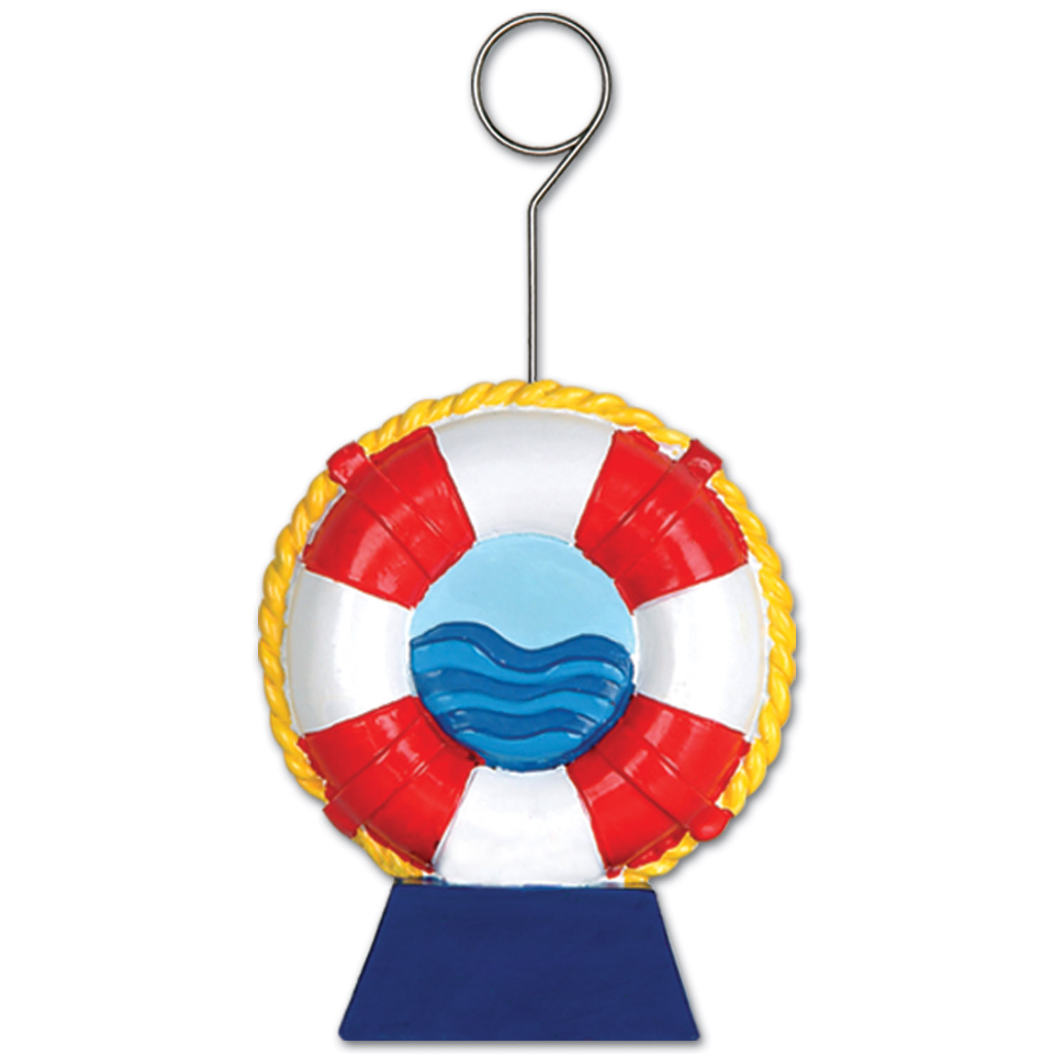 6oz Life Preserver Photo/Balloon Holder (Pack of 6) Life preserver, Nautical, Commodores Ball, Water, Lake, Ocean, Fishing, Centerpieces, Balloon Holders, Photo Holders, Decorative, Wholesale party supplies, Inexpensive party decorations, Cheap, Bulk